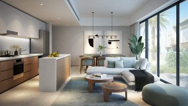 living area with kitchen